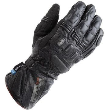 Oxford Voyager Waterproof Leather Motorcycle Gloves - Black